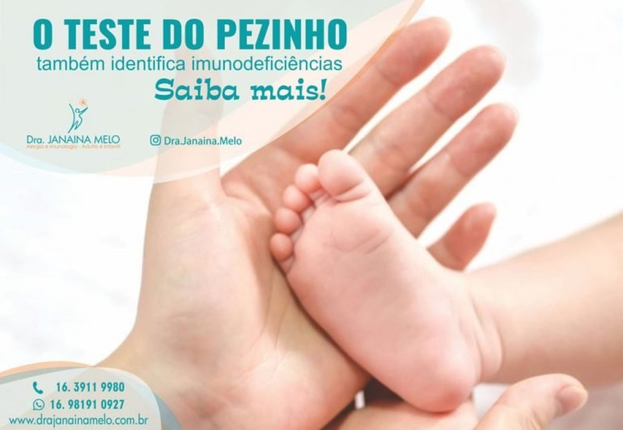 TESTE DO PEZINHO IDENTIFICA IMUNODEFICIÊNCIAS