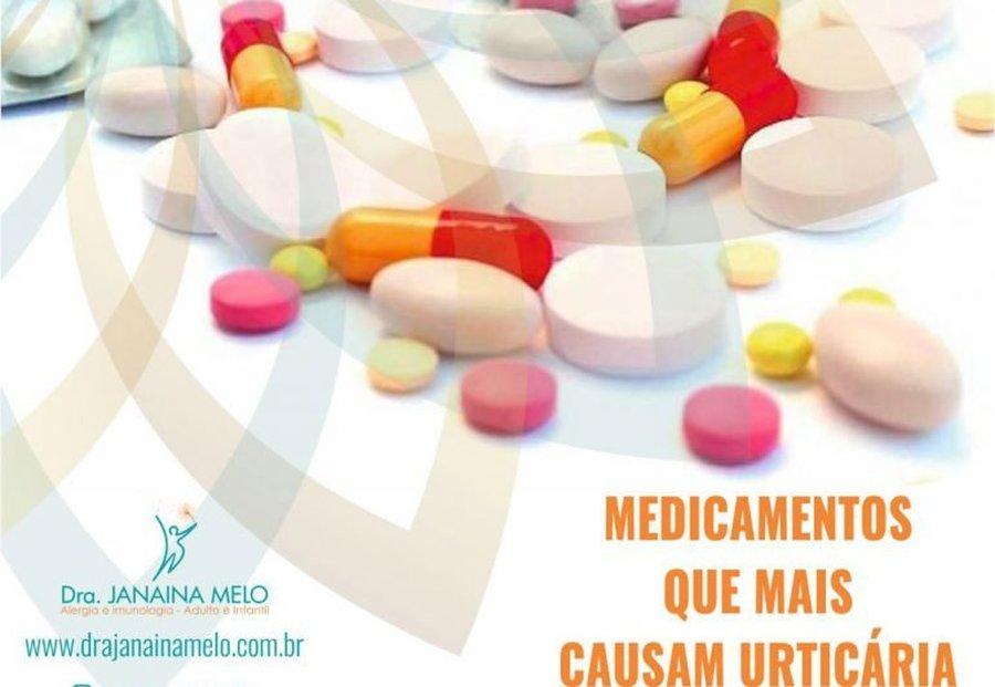 MEDICAMENTOS QUE MAIS CAUSAM URTICÁRIA