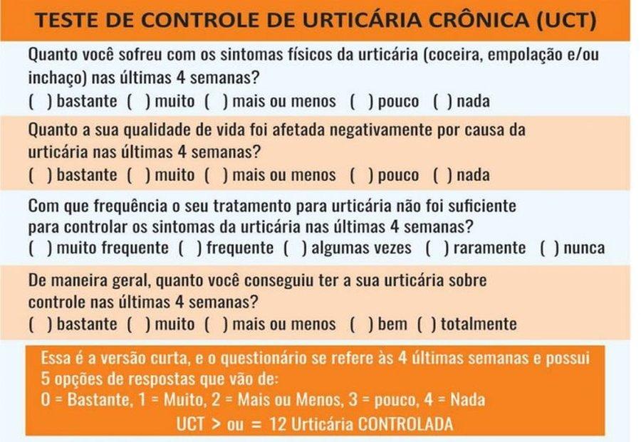 TESTE DE CONTROLE DE URTICÁRIA CRÔNICA (UCT)