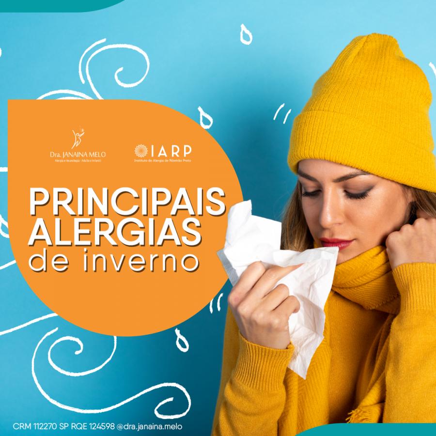 Principais Alergias de Inverno