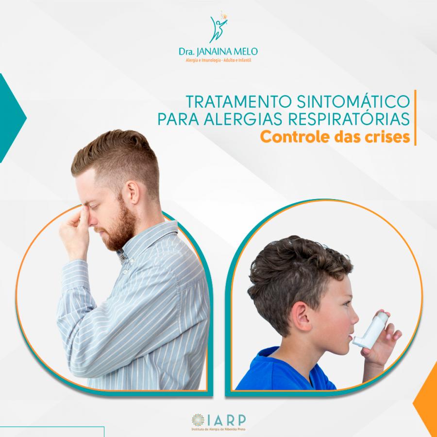 Tratamento sintomático para alergias respiratórias - Controle das crises