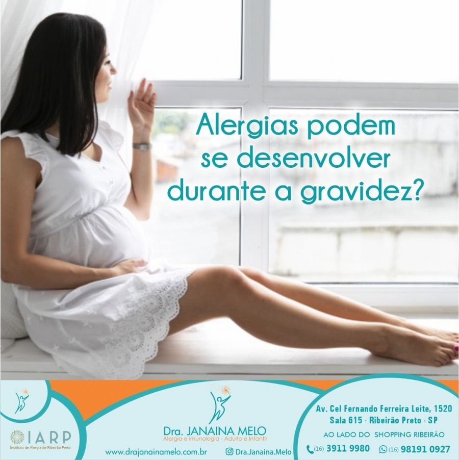 Alergias podem se desenvolver durante a Gravidez?