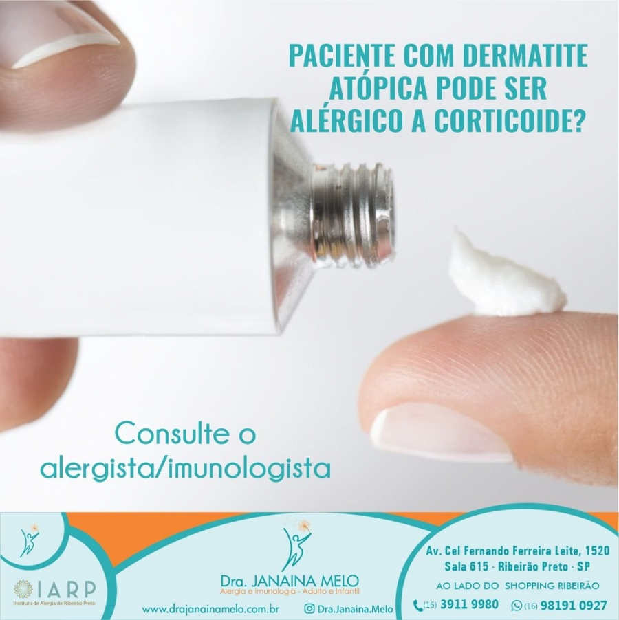 Paciente com Dermatite Atópica e Alergia a Corticoide