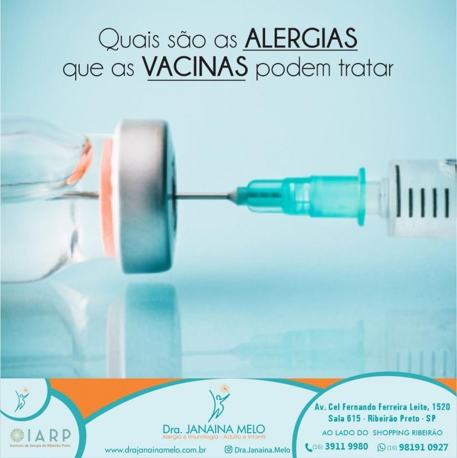 Quais alergias as vacinas podem tratar?