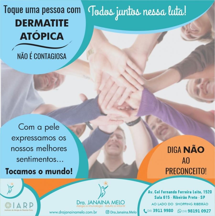 Dermatite Atópica não é contagiosa!!