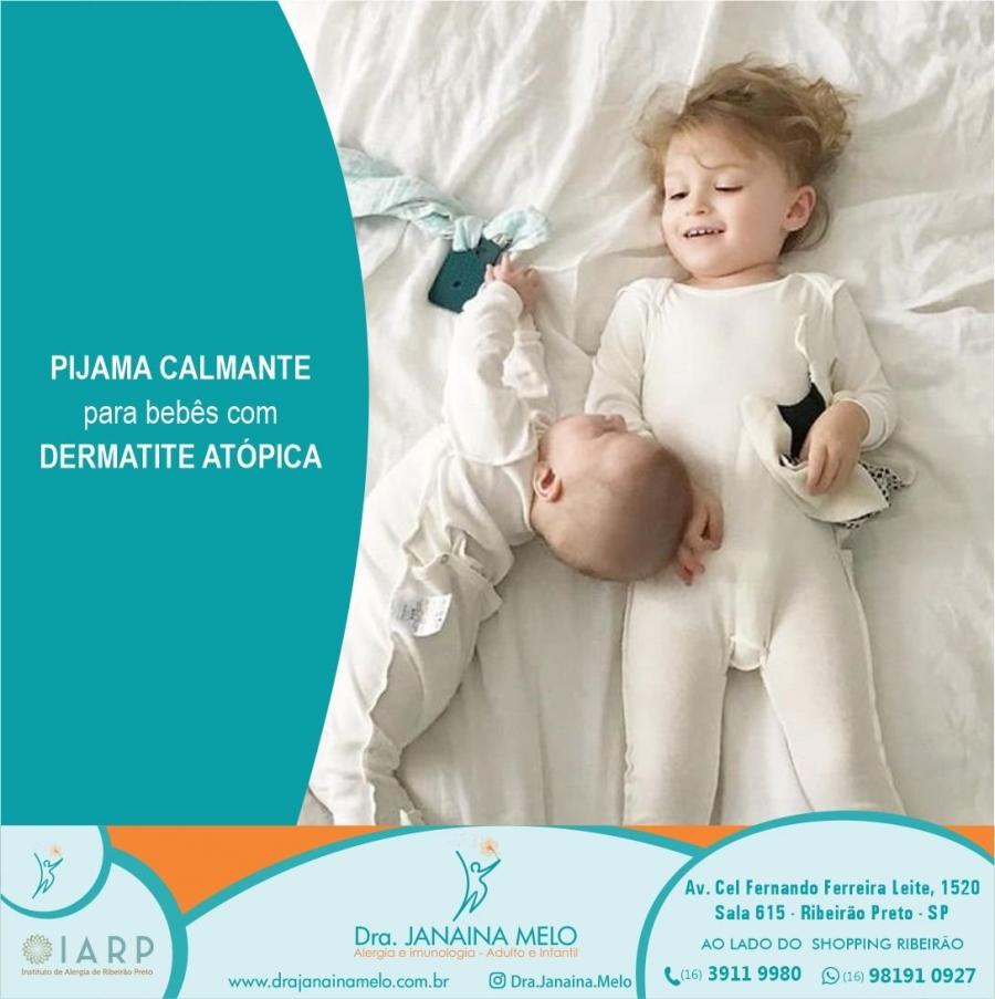 Pijama calmante para bebês com Dermatite Atópica!