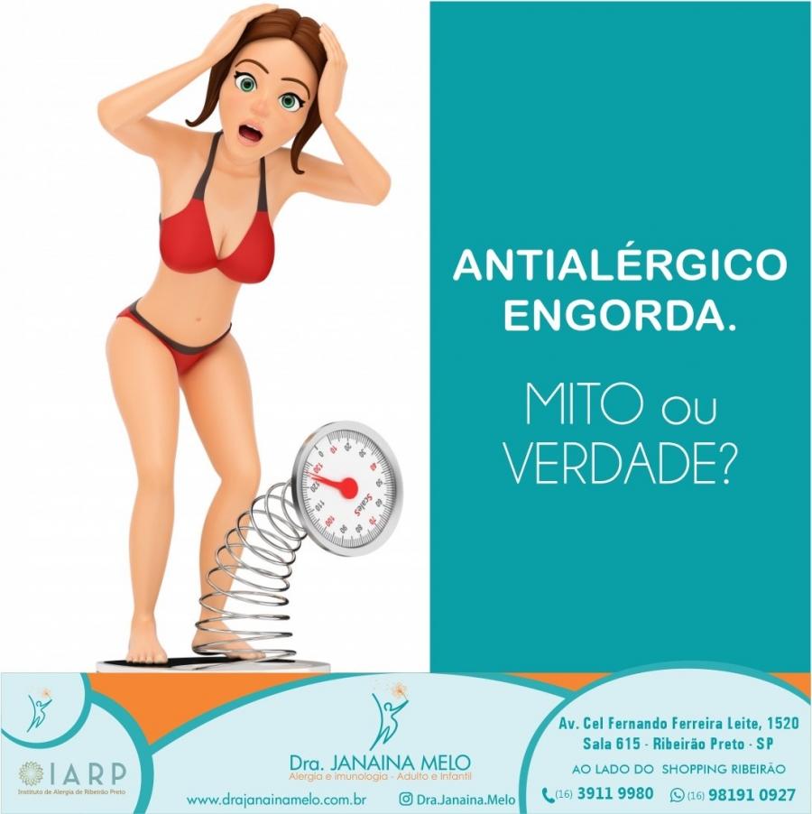 Antialérgico engorda?
