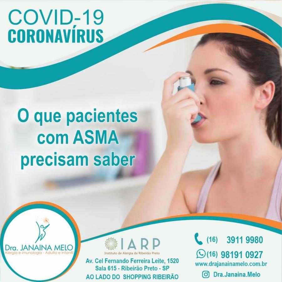 O que pacientes com Asma precisam saber sobre Covid-19