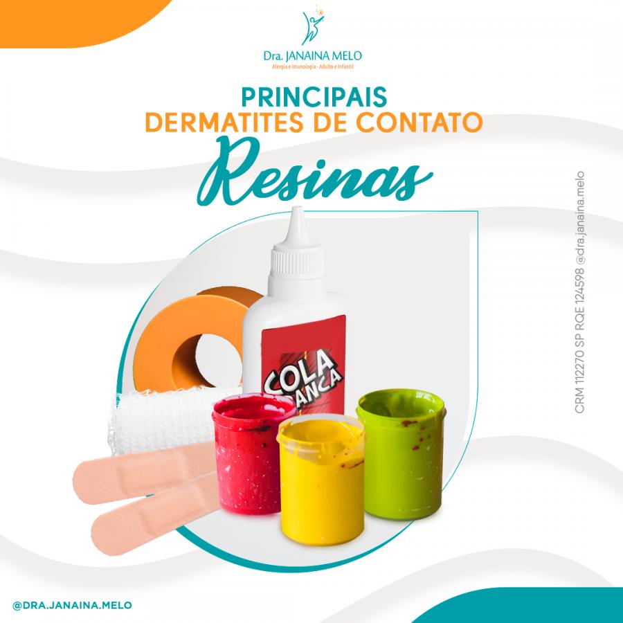 Principais Dermatites de Contato - Resinas