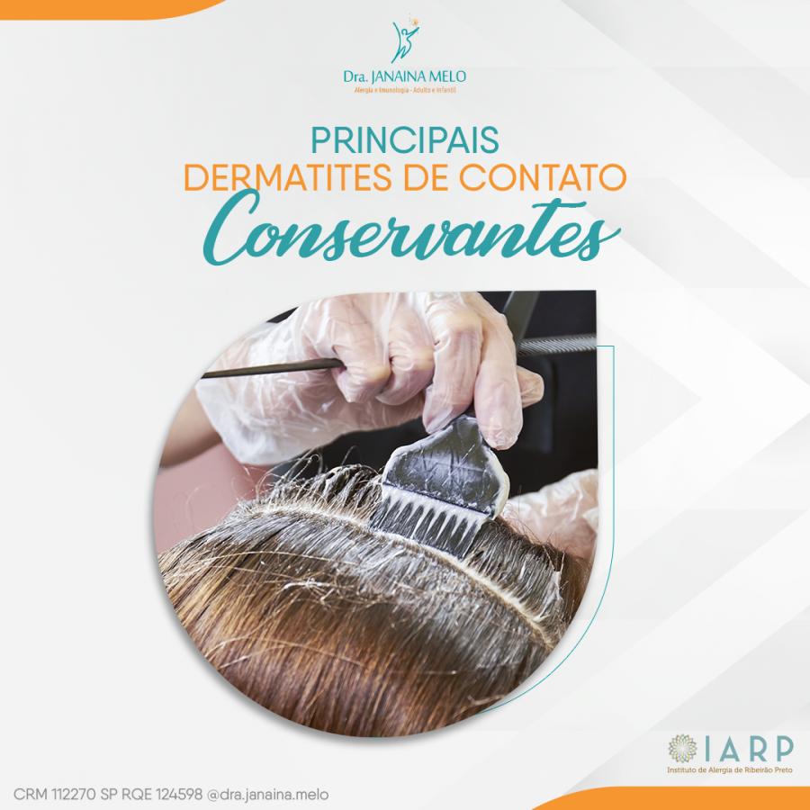 Principais Dermatites de Contato - Conservantes