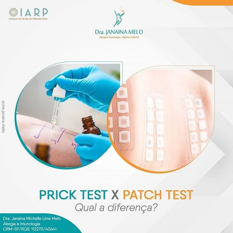Qual a diferença entre o Prick Test e o Patch Test?