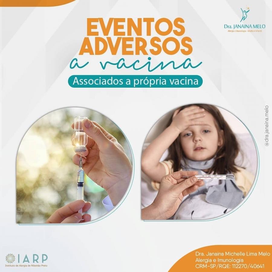 Eventos adversos a vacina associados à própria vacina