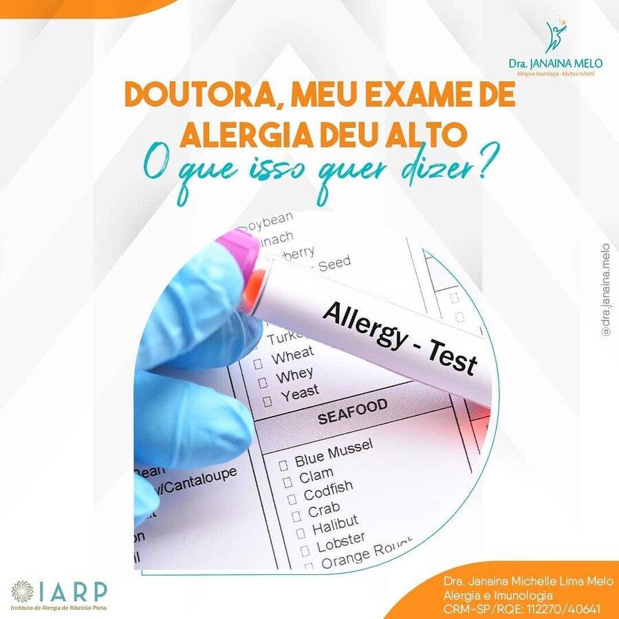 Exame de Alergia dando alto?