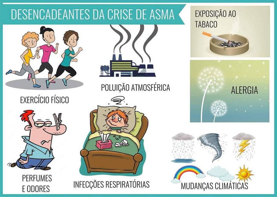 DESENCADEANTES DA CRISE DE ASMA