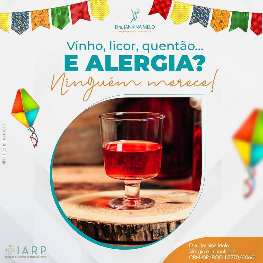 Alergia a Vinho, licor, quentão....