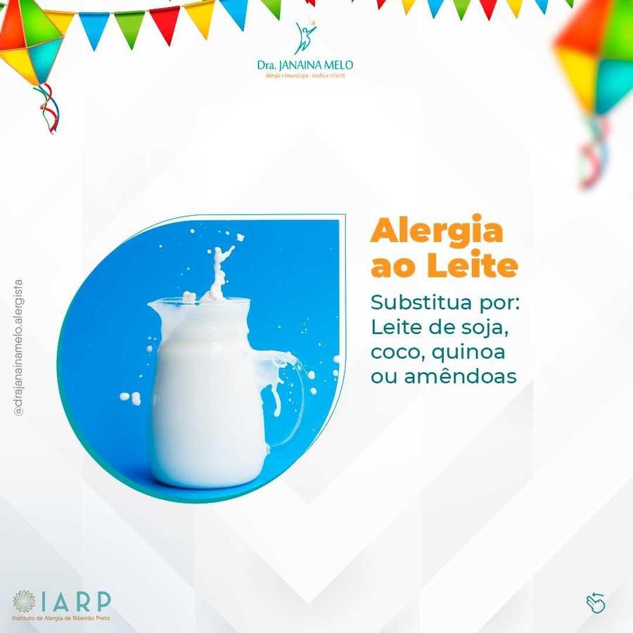 São João sem Alergia Alimentar - Alergia ao Leite