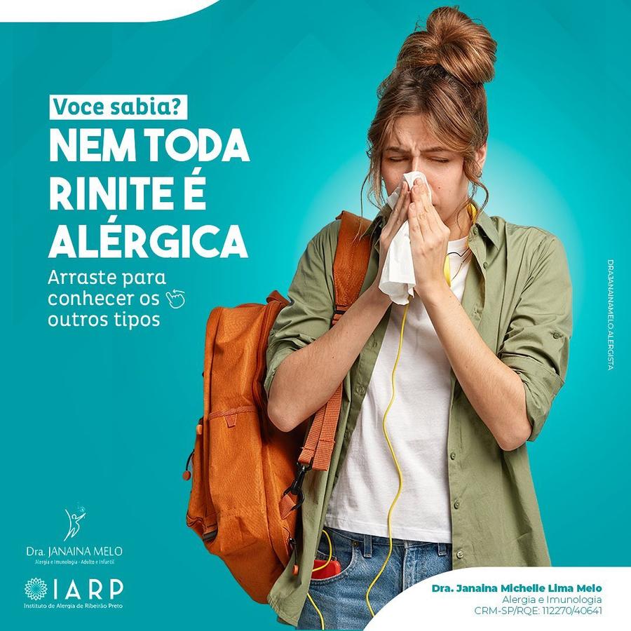 Nem toda a Rinite é Alérgica!!