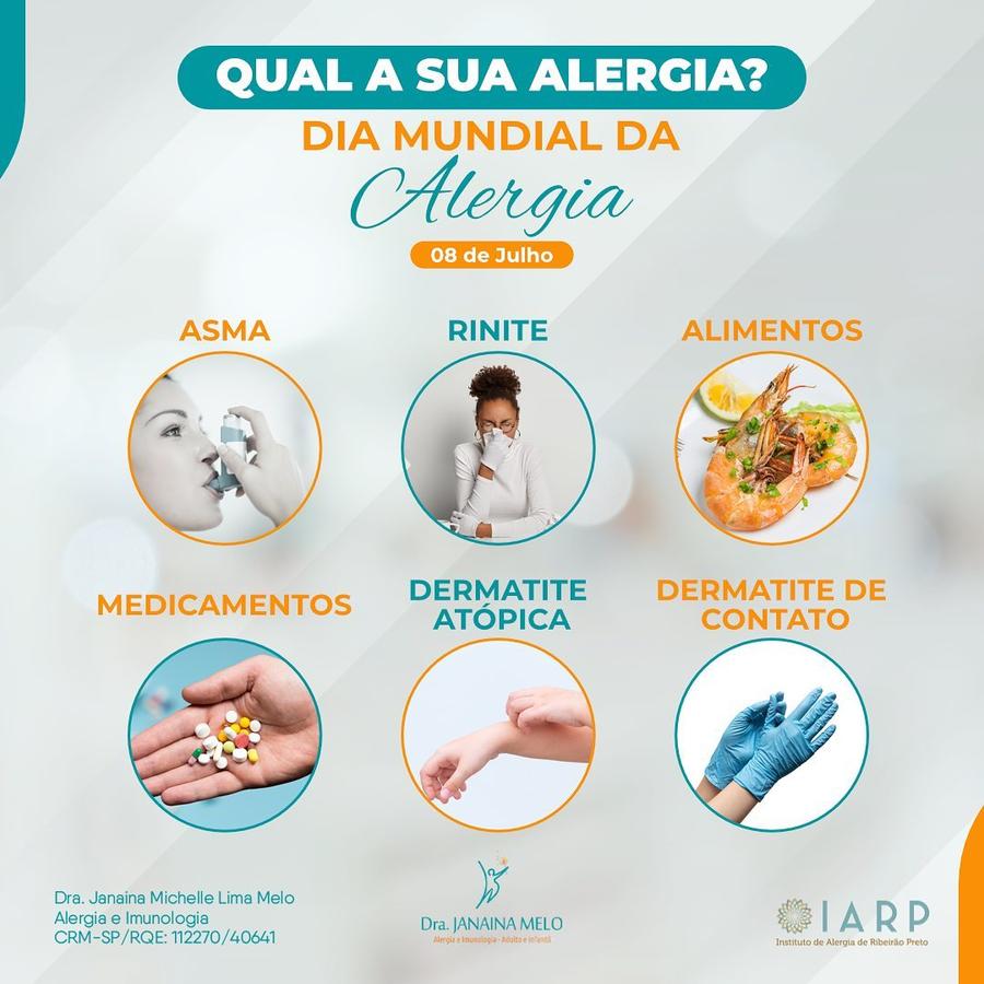 Qual a sua alergia?