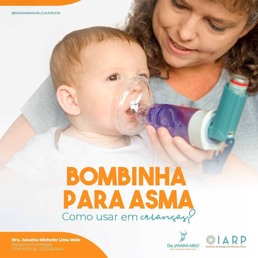 Como usar Bombinhas para Asma em crianças?